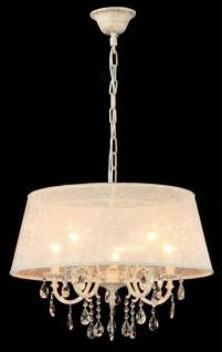 Casa Padrino Barock Decken Kristall Kronleuchter Elfenbein 65 x H 48 cm Antik Stil - Möbel Lüster Leuchter Hängeleuchte Hängelampe