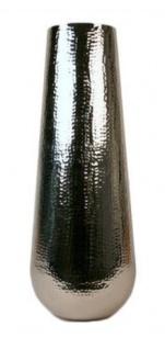 Casa Padrino Aluminium Vase Silber Ø 30 x H. 80 cm - Luxus Deko Vase