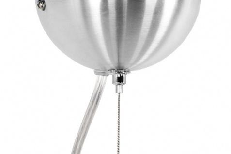 Designer Pendelleuchte aus gebürstetem Aluminium, Silber/Weiß, Leuchte Lampe - Vorschau 3