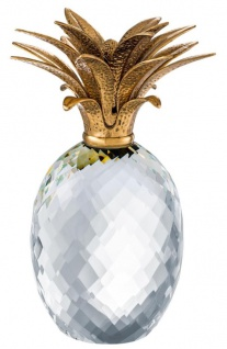 Casa Padrino Luxus Kristallglas Ananas 15, 5 x H. 30, 5 cm - Hotel Restaurant Dekoration