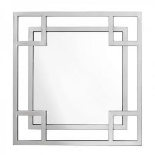 Casa Padrino Luxus Spiegel Neo Klassisch 70 x 70 cm Edelstahl vernickelt - Wandspiegel - Luxus Hotel Möbel Collection