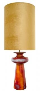 Casa Padrino Luxus Keramik Tischleuchte Orange / Gold 45 x H. 117 cm - Luxus Qualität
