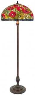 Casa Padrino Tiffany Stehleuchte Mehrfarbig Ø 50 x H. 170 cm - Handgefertigte Tiffany Stehlampe aus 1221 Teilen
