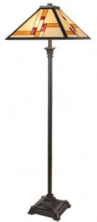Casa Padrino Luxus Tiffany Stehleuchte Schwarz / Mehrfarbig 50 x 50 x H. 156 cm - Handgefertigt aus 64 Teilen