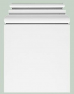 Casa Padrino Barock Wanddeko Sockel Weiß 39 x 6, 5 x H. 53, 5 cm - Deko Zierelement Säulenfuß