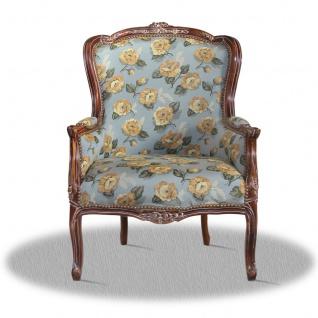 Casa Padrino Barock Sessel mit Blumenmuster - Hotel Kollektion