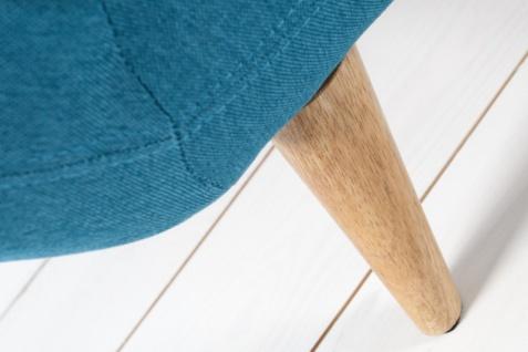 Chesterfield 3er Sofa blau aus dem Hause Casa Padrino - Wohnzimmer Möbel - Couch - Vorschau 5