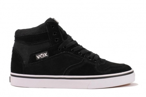 Vox Skateboard Schuhe Accent Black/Black/White