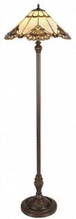 Casa Padrino Luxus Tiffany Stehleuchte Mehrfarbig Ø 50 x H. 170 cm - Handgefertigte Lampe aus 288 Teilen