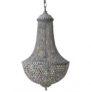 Casa Padrino Hängeleuchte Deckenleuchte Antik Grau Durchmesser 45 x H 75 cm - Möbel Lüster Leuchter Deckenleuchte Deckenlampe