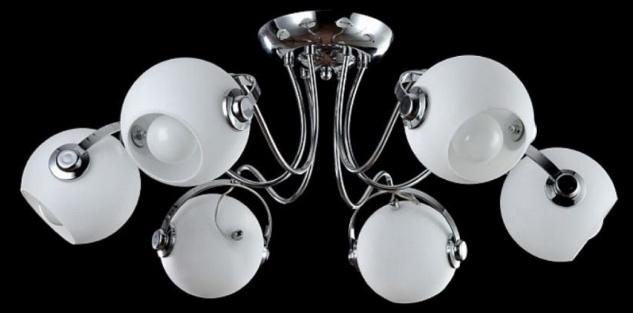 Casa Padrino Designer Deckenleuchte Silber / Weiß Ø 76 x H. 28 cm - Moderne Deckenlampe mit kugelförmigen Lampenschirmen - Vorschau 2