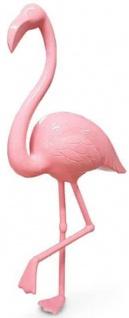 Casa Padrino Luxus Dekofigur Flamingo Vogel Rosa H. 155 cm - Lebensgroße Dekofigur - Riesige Tierfigur - Gartendeko Skulptur