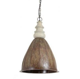 Casa Padrino Hängeleuchte Deckenleuchte Braun Industrial Design Durchmesser 33 x H 50 cm - Industrie Lampe Leuchte Industrieleuchte