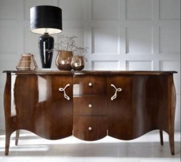 Casa Padrino Luxus Barock Kommode Braun 201 cm - Sideboard Art Deco Möbel