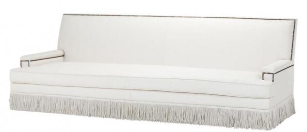 Casa Padrino Luxus Designer Sofa Weiß 262 x 102 x H. 90 cm - Wohnzimmer Möbel