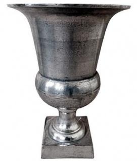 Casa Padrino Antik Stil Vase Aluminium B. 32 cm H. 46 cm - Hotel Dekoration - Barock Blumengefäss Pflanzentopf