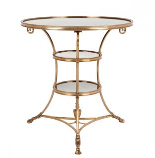 Casa Padrino Luxus Art Deco Designer Beistelltisch Antik Messing - Luxus Kollektion