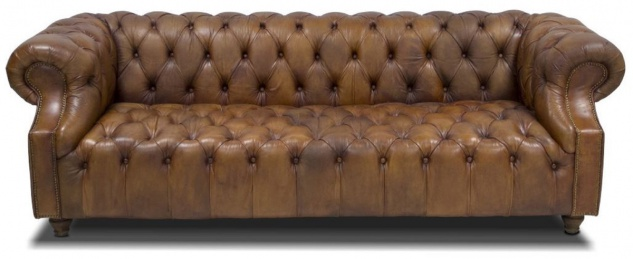 Casa Padrino Luxus Chesterfield Leder Sofa 240 x 100 x H. 80 cm - Verschiedene Farben - Echtleder Wohnzimmer Sofa - Chesterfield Möbel