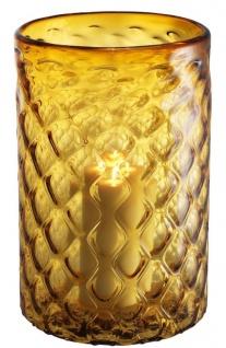 Casa Padrino Luxus Glas Kerzenleuchter Gelb Ø 27 x H. 44 cm - Hotel & Restaurant Deko Accessoires