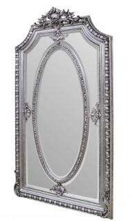 Casa Padrino Antik Stil Spiegel / Wandspiegel Silber 118 x H. 207 cm - Barock Wohnzimmer Möbel - Vorschau 2