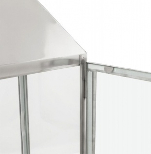 Casa Padrino Designer Laterne Aluminium Silber / Glas - Kerzenleuchter Vintage Stil - Vorschau 4