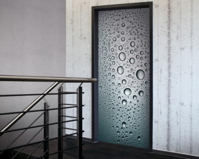 Tür 2.0 XXL Wallpaper für Türen 20030 Drops - selbstklebend- Blickfang für Ihr zu Hause - Tür Aufkleber Tapete Fototapete FotoTür 2.0 XXL Vintage Antik Stil Retro Wallpaper Fototapete