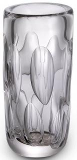 Casa Padrino Luxus Deko Glas Vase Ø 14 x H. 29 cm - Elegante mundgeblasene Blumenvase - Wohnzimmer Deko Accessoires