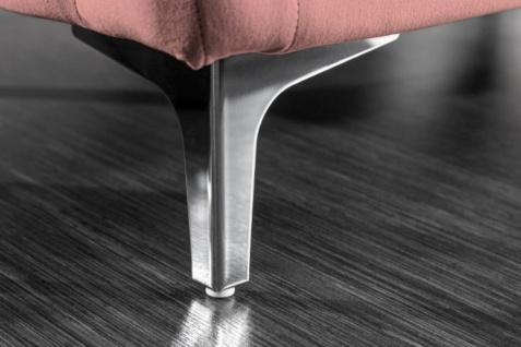 Casa Padrino Chesterfield Samt Hocker Altrosa / Silber 90 x 63 x H. 47 cm - Moderner rechteckiger Sitzhocker - Wohnzimmermöbel - Vorschau 5