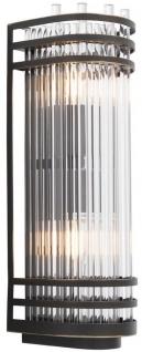 Casa Padrino Luxus Wandleuchte Bronzefarben 12 x 12, 5 x H. 38 cm - Elegante Metall Wandlampe mit Glas Lampenschirm - Luxus Kollektion