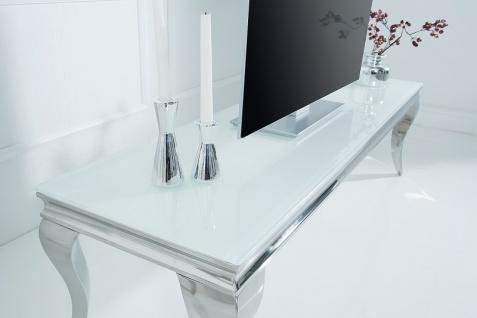 Barock Tisch 160cm weiss silber - Fernsehtisch - Vorschau 5