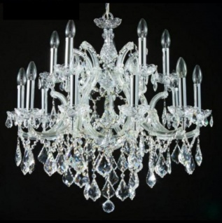 Casa Padrino Barock Decken Kristall Kronleuchter Silber 75 x H 66 cm Antik Stil - Möbel Lüster Leuchter Hängeleuchte Hängelampe