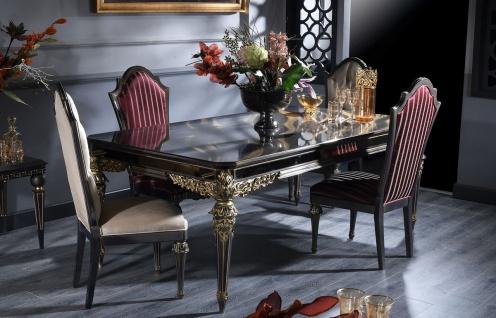 Casa Padrino Luxus Barock Esszimmer Set - 1 Esstisch & 6 Esszimmerstühle - Handgefertigte Esszimmer Möbel im Barockstil