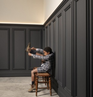Casa Padrino Wandpaneel Weiß 150 x 3, 2 x H. 50 cm - Barock & Jugendstil Deko Accessoires - Vorschau 2