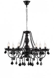Casa Padrino Barock Kristall Decken Kronleuchter Schwarz 68 x H 55 cm Antik Stil - Möbel Lüster Leuchter Hängeleuchte Hängelampe