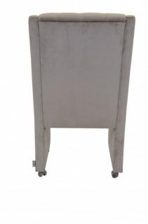 Casa Padrino Designer Esszimmer Stuhl / Sessel ModEF 313 Grau Samt - Hoteleinrichtung - Sessel auf Rollen - Vorschau 4