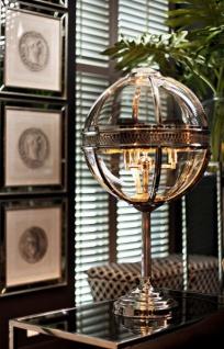 Casa Padrino Barock Tischleuchte vernickelt Kugel Silber Durchmesser 30 cm, Höhe 61 cm - Barock Schloss Lampe Leuchte Laterne - Vorschau 2