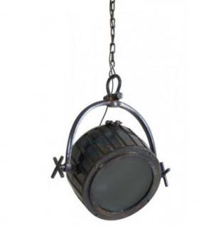 Casa Padrino Hängeleuchte Deckenleuchte Bronze Industrial Design Durchmesser 60 x H 46 cm - Industrie Lampe Leuchte Industrieleuchte