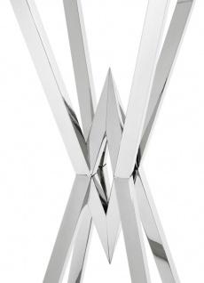 Casa Padrino Luxus Beistelltisch / Säule Edelstahl Silber 35 x 35 x H. 101 cm - Designer Tisch Möbel - Vorschau 3