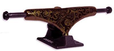 Crail Skateboard Achsen Set 129 LOW LIGHT Pattern Lysergic bronze/schwarz (2 Achsen)