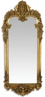 Casa Padrino Barock Spiegel Antik Gold 31, 3 x H. 70, 1 cm - Wandspiegel im Barockstil