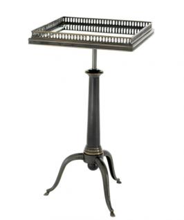 Casa Padrino Luxus Art Deco Designer Beistelltisch Anthrazit - Hotel Tisch Möbel