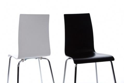 Designer Stuhl aus Holz und verchromtem Stahl Schwarz, Esszimmerstuhl, moderner Wohnzimmerstuhl - Vorschau 5