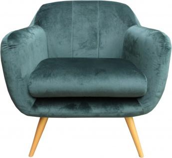 Casa Padrino Retro Salon Sessel Grün / Gold - Cocktailsessel 60er Jahre Stuhl Möbel