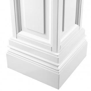 Casa Padrino Wohnzimmer Säule Weiß 33 x 33 x H. 120 cm - Luxus Kollektion - Vorschau 3