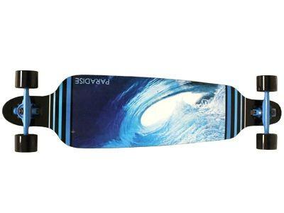 Paradise Barrel Wave 2 DropTrough Complete Longboard - Long Skateboard Komplett Komplettboard Cruiser