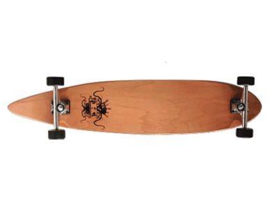 Krown - Longboard Komplettboard Skateboard Logo Pintail Longboard Complete mit Koston Kugellagern