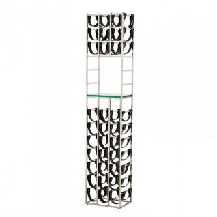 Casa Padrino Luxus Designer Weinregal Edelstahl poliert für 30 Flaschen - Flaschenhalter - Weinflaschen Ständer