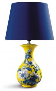 Casa Padrino Luxus Porzellan Tischleuchte / Tischlampe Gelb Ø 30 x H. 51 cm - Luxus Qualität