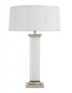 Casa Padrino Luxus Tischleuchte Nickel Durchmesser 18 x 52 x H 77 cm - Luxus Hotel Leuchte