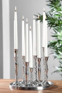 Designer Kerzenhalter aus poliertem Aluminium, 9-flammig - Shine Classic - Kerzenleuchter